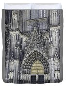 West Entrance Door Cologne Cathedral Duvet Cover