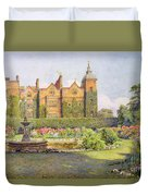 West Front And Gardens Of Hatfield Duvet Cover