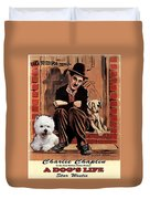 West Highland White Terrier Art Canvas Print - A Dogs Life Movie Poster Duvet Cover