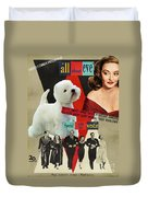 West Highland White Terrier Art Canvas Print - All About Eve Movie Poster Duvet Cover