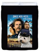 West Highland White Terrier Art Canvas Print - Dances With Wolves Movie Poster Duvet Cover