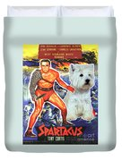West Highland White Terrier Art Canvas Print - Spartacus Movie Poster Duvet Cover