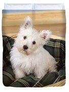 West Highland White Terrier Puppy Duvet Cover