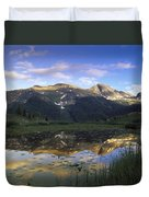 West Needle Mountains Reflected In  Pond Duvet Cover