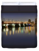 West Palm Beach At Night Duvet Cover