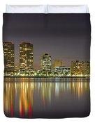 West Palm Beach Skyline Duvet Cover