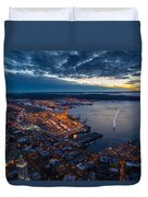 West Seattle Water Taxi Duvet Cover