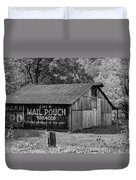 West Virginia Barn Monochrome Duvet Cover