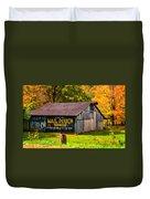 West Virginia Barn Oil Duvet Cover