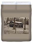 West Virginia Classic Sepia Duvet Cover