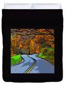 West Virginia Curves 2 Line Art Duvet Cover