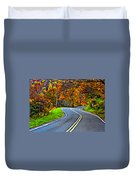 West Virginia Curves Painted Duvet Cover