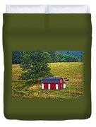 West Virginia Oil Duvet Cover
