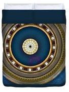 West Virginia State Capital Dome Hdr Duvet Cover