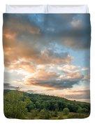 West Virginia Sunset Duvet Cover