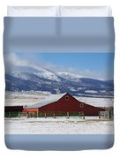 Westcliffe Landmark - The Red Barn Duvet Cover