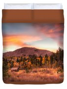 Western Barn At Sunset II Duvet Cover