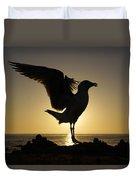 Western Gull At Sunset California Duvet Cover
