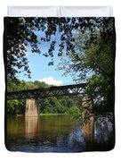Western Maryland Railroad Crossing The Potomac River Duvet Cover