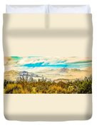 Western Panorama From Mountain At Joshua Tree National Park Duvet Cover