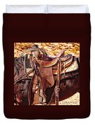 Western Saddle Duvet Cover
