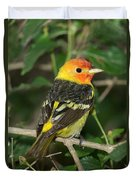 Western Tanager Duvet Cover