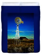 Western Windmill Duvet Cover by Steve McKinzie
