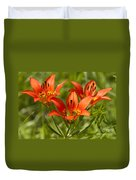 Western Wood Lily Duvet Cover