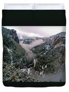 Western Yosemite Valley Duvet Cover by Bill Gallagher