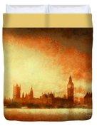 Westminster At Dusk Duvet Cover