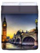 Westminster Bridge And Big Ben Duvet Cover