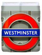 Westminster Underground Logo Duvet Cover