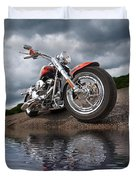 Wet And Wild - Harley Screamin' Eagle Reflection Duvet Cover