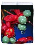 Wet Berries Duvet Cover by Kaye Menner