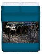 wet fishing boat,kyle of lochalsh Scotland  Duvet Cover