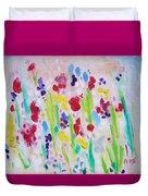 Wet Flowers Duvet Cover