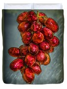 Wet Grapes Four Duvet Cover by Bob Orsillo