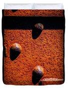 Wet Rivets  Duvet Cover by Bob Orsillo