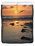 Wet Sunset Duvet Cover