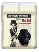 Wetterhoun-frisian Water Dog Art Canvas Print - The Kid Movie Poster Duvet Cover