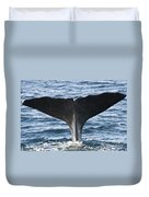 Whale Diving Duvet Cover
