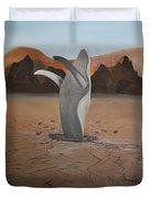 Whale In Desert Duvet Cover