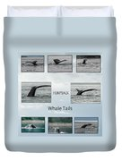 Whale Tails Duvet Cover