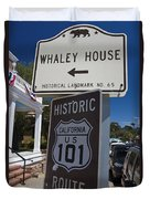 Whaley House Us Hwy 101 Historic Route Duvet Cover