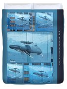 Whaling Wall 42 -  East Coast Humpbacks - Original Painting By Wyland Duvet Cover