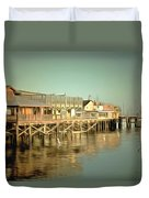 Fishermans Wharf Monterey California Duvet Cover