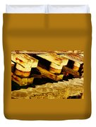 Wharf Reflections In Brown Duvet Cover