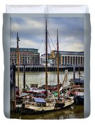 Wharf Ships Duvet Cover by Heather Applegate