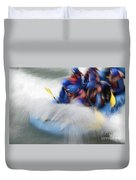 White Water Rafting What A Rush Duvet Cover