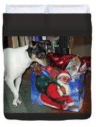 What Did Santa Bring Me Duvet Cover